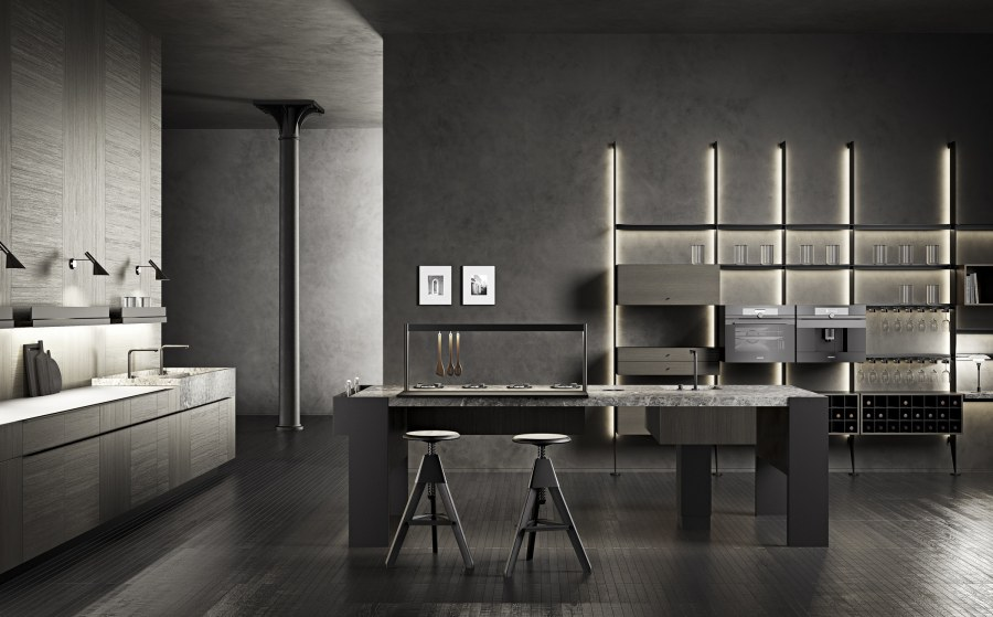 Collections - News Eurocucina 2018 Williamsburg, Intarsio & The 50's